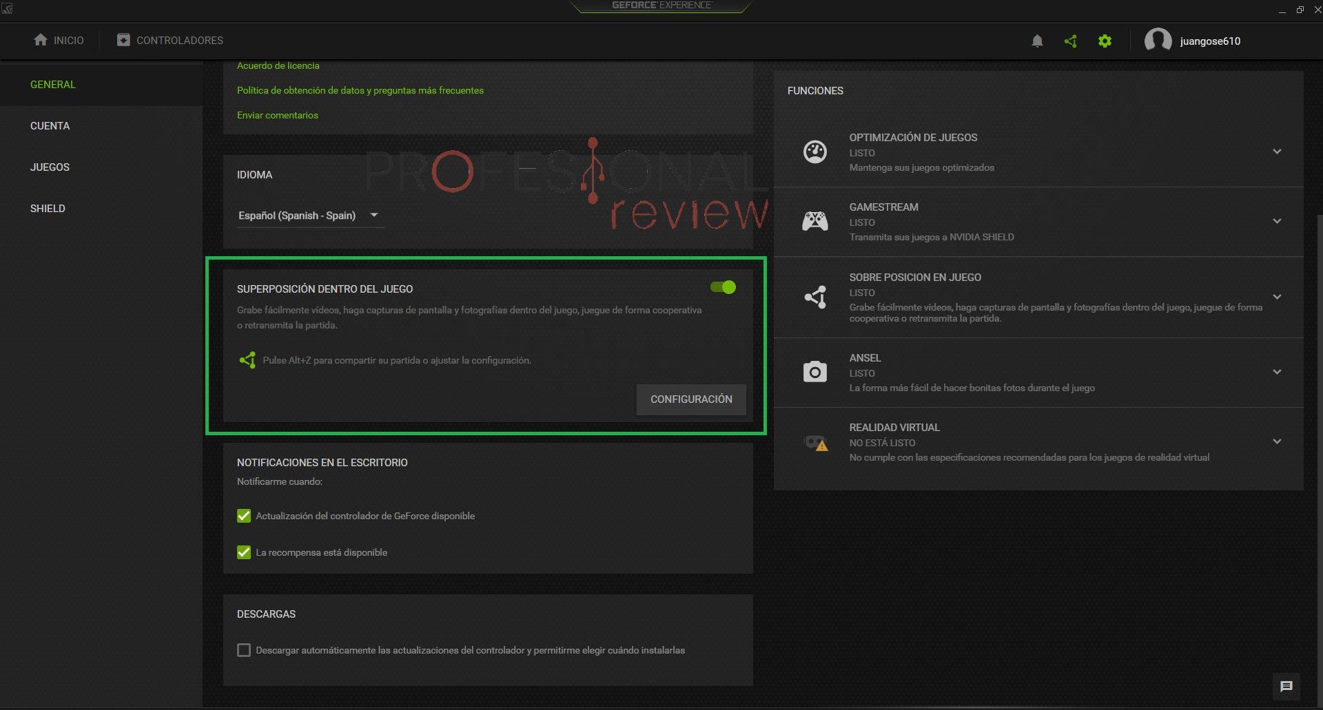 Cmo grabar partidas con Nvidia Shadowplay
