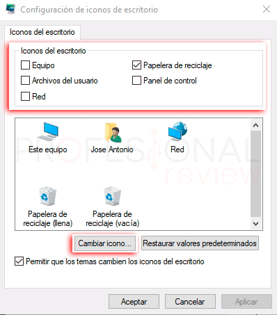 Cambiar iconos en Windows 10 tuto02