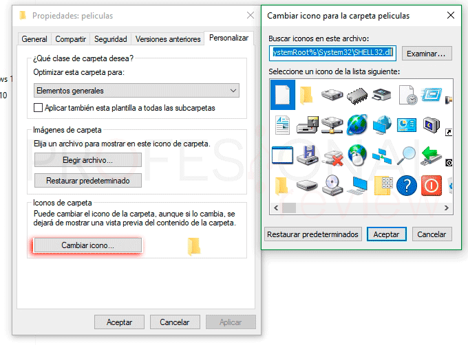 Cambiar iconos en Windows 10 tuto06