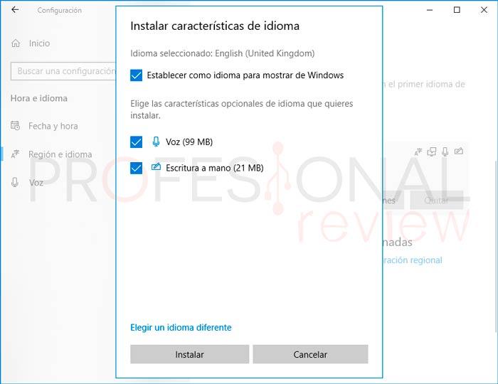Cambiar Idioma Windows 10 paso04