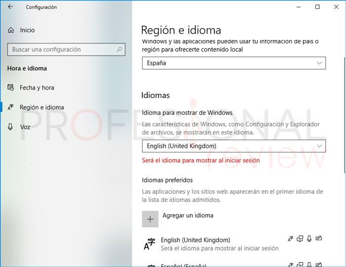 Cambiar Idioma Windows 10 paso05