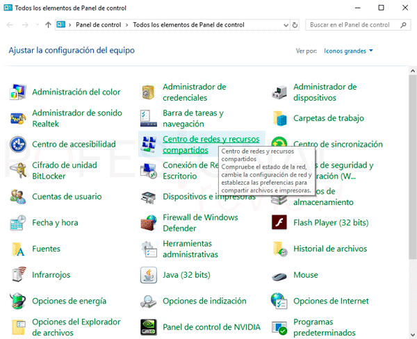 Cambiar red pública a privada Windows 10 p04