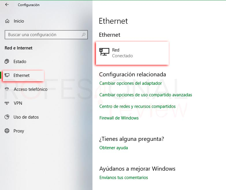 Cambiar red pública a privada Windows 10 p07