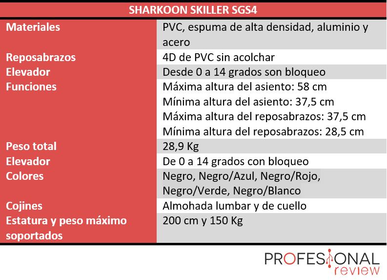 Sharkoon Skiller SGS4 caracteristicas