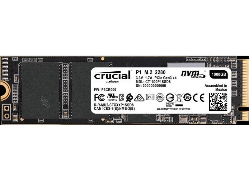 Crucial P1, el primer SSD NVMe basado en memoria QLC