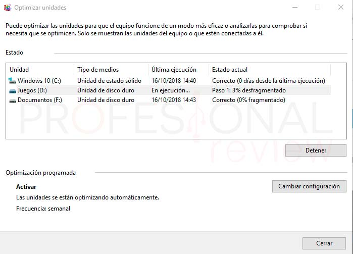 Desfragmentar disco Windows 10 paso04