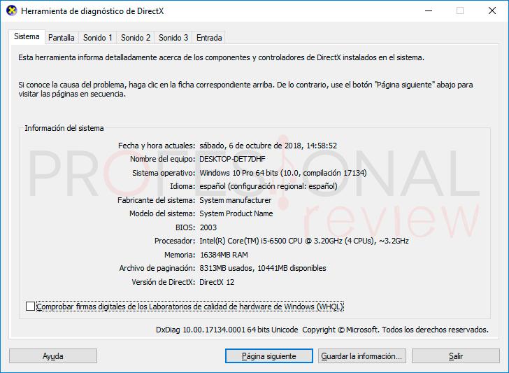 DirectX Windows 10 paso01