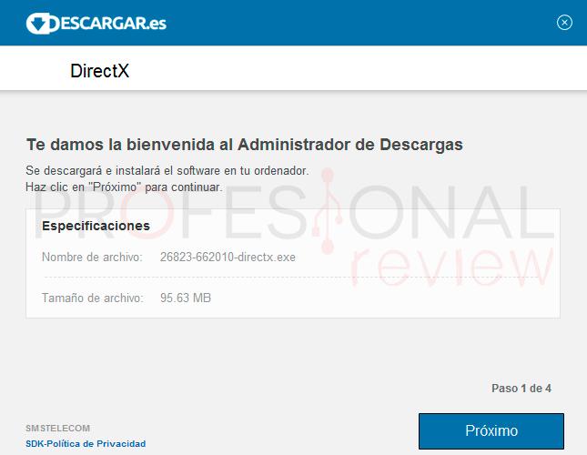 DirectX Windows 10 paso02