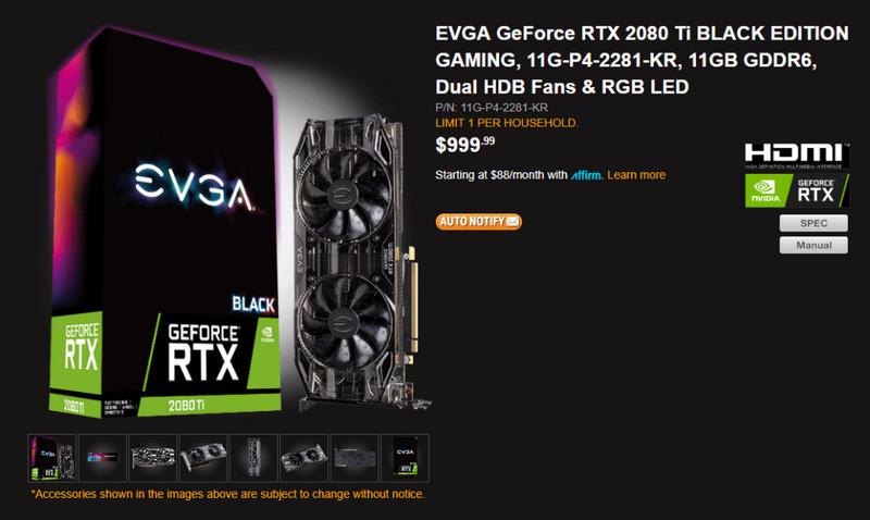 RTX 2080 Ti Black Edition