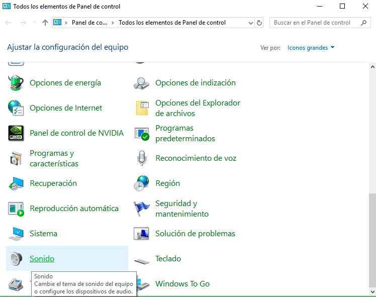 Ecualizador Windows 10 paso05