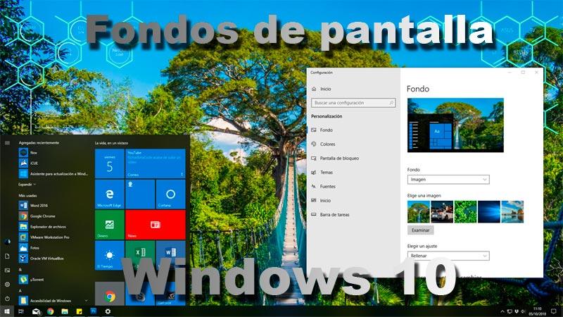 Fondos de pantalla Windows 10