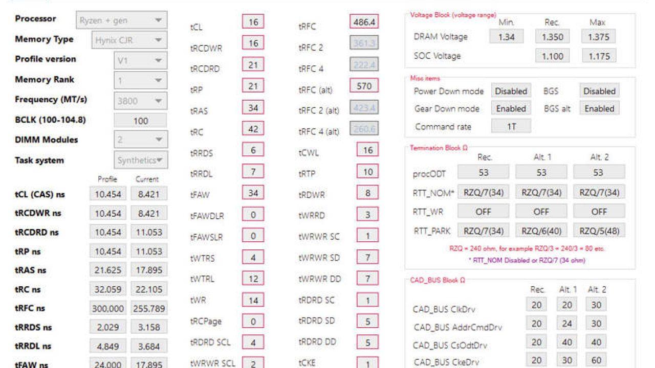 DRAM Calculator for Ryzen v1 4 0 incluye soporte para Threadripper