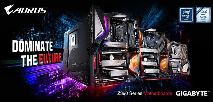 Nuevas placas base Gigabyte Aorus Z390
