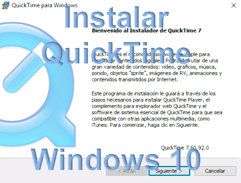 Instalar QuickTime Windows 10