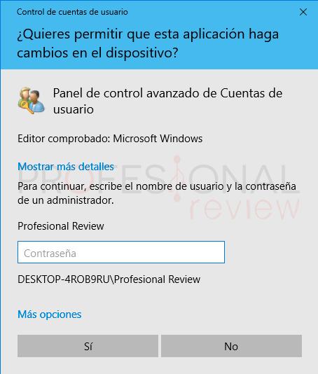 Restablecer contraseña Windows 10 paso10