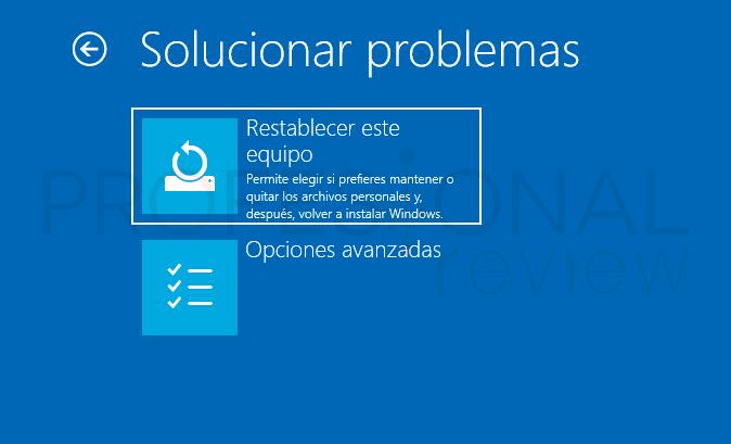 Restablecer contraseña Windows 10 paso31