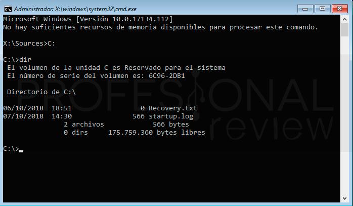 Restablecer contraseña Windows 10 paso19