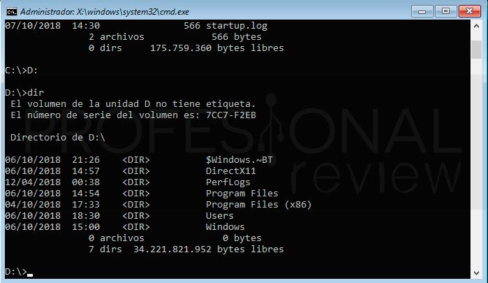 Restablecer contraseña Windows 10 paso20