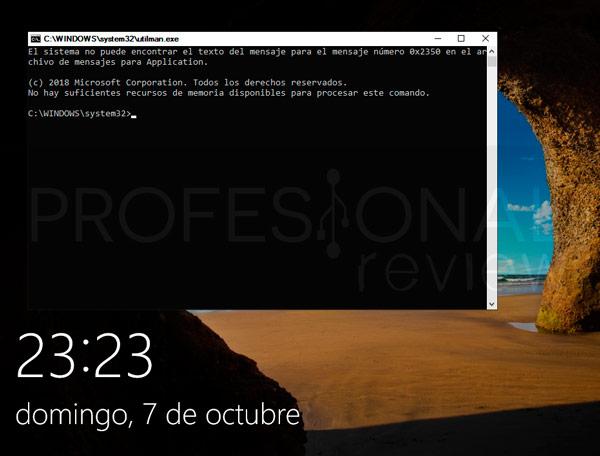 Restablecer contraseña Windows 10 paso24