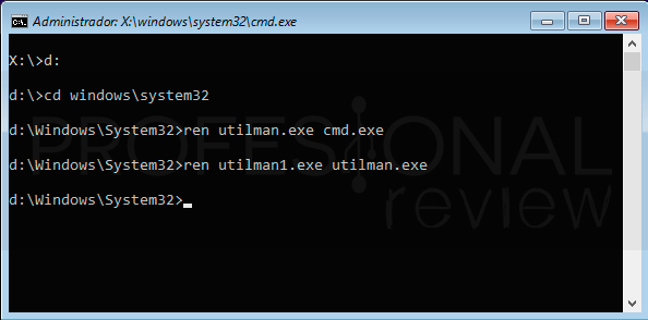 Restablecer contraseña Windows 10 paso27