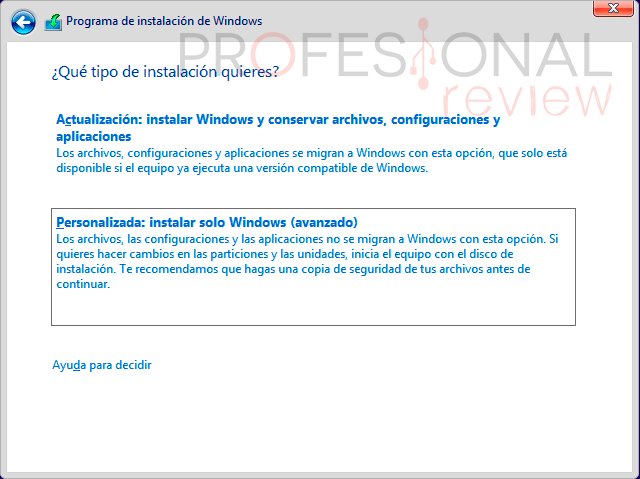 instalar windows 10