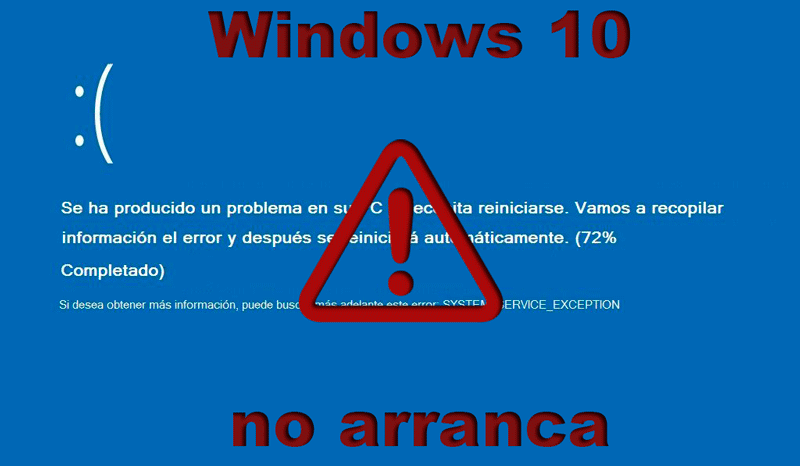 Windows 10 no arranca