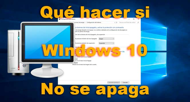Windows 10 no se apaga