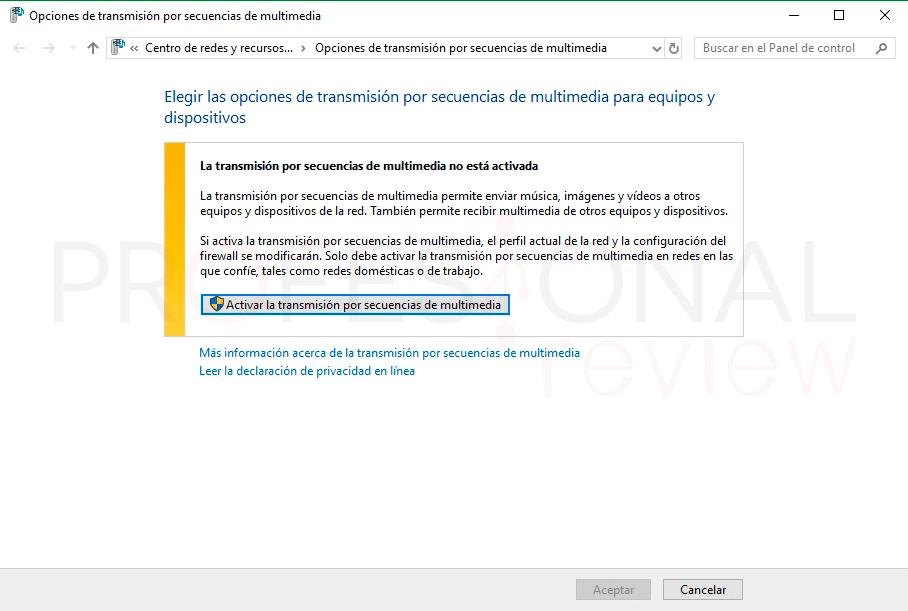 Activar DLNA en Windows 10 tuto02