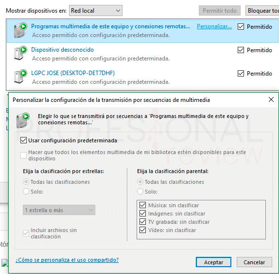 Activar DLNA en Windows 10 tuto03