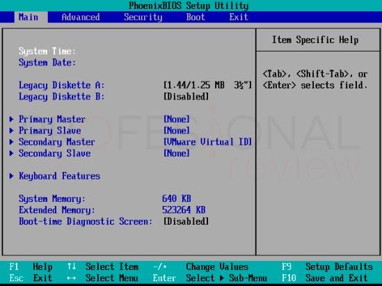 Activar virtualización en BIOS tuto03