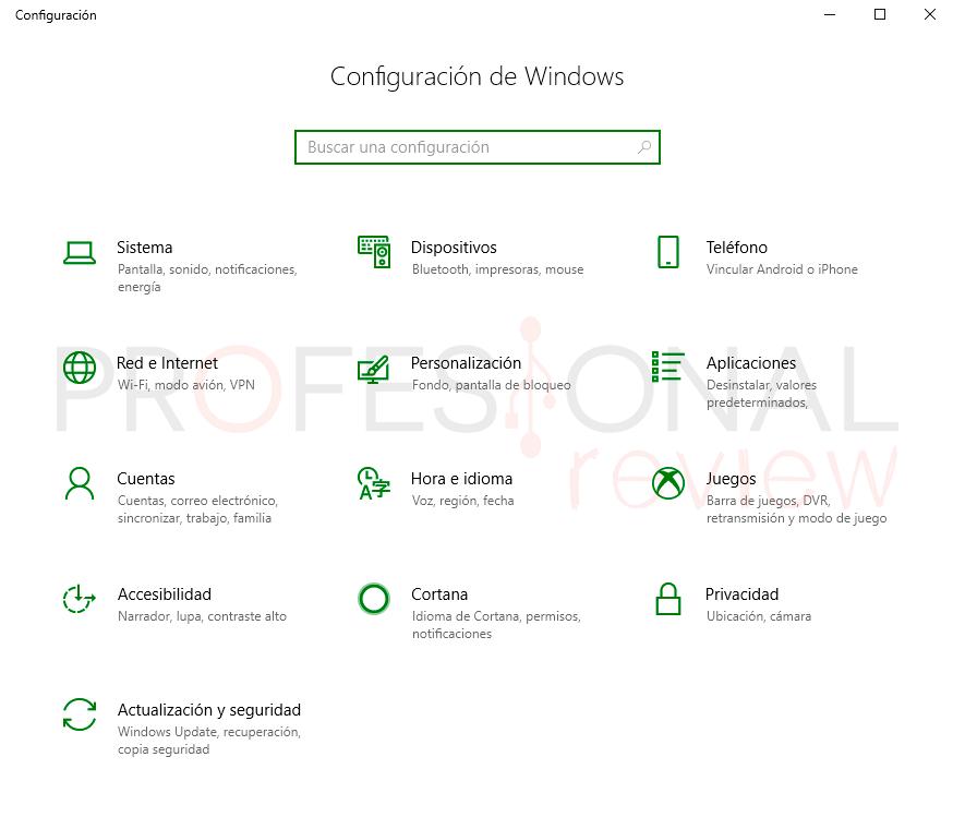 Última actualización Windows 10 paso01