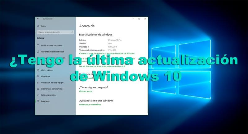 Última actualización Windows 10