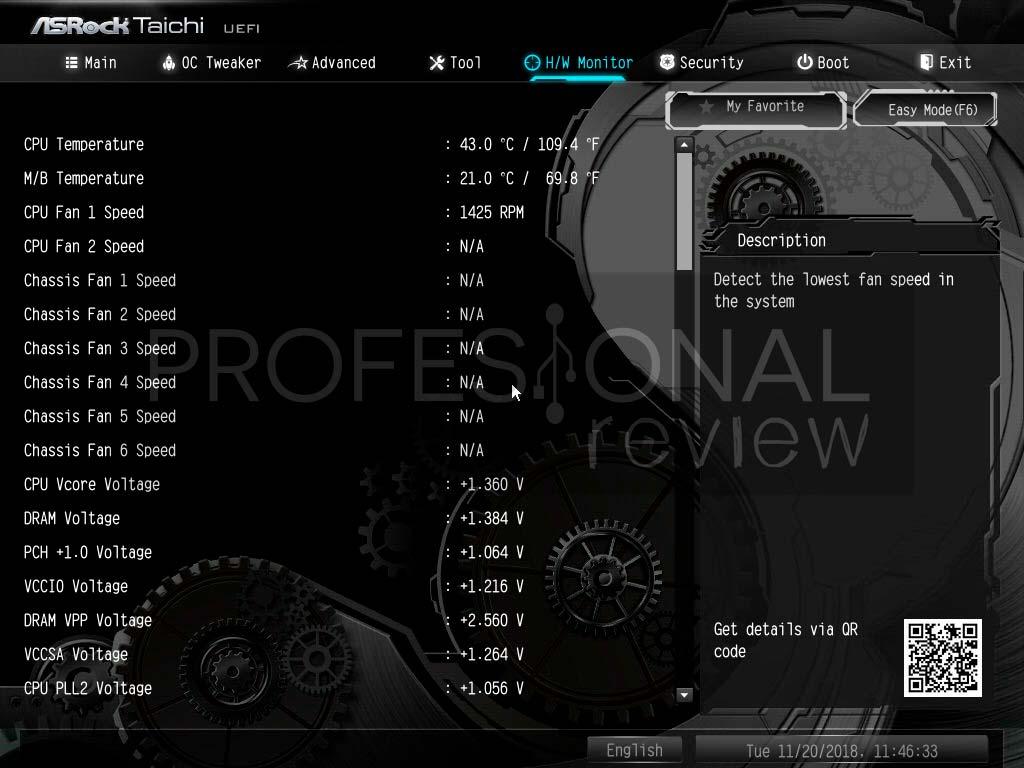 ASRock Z390 Taichi BIOS