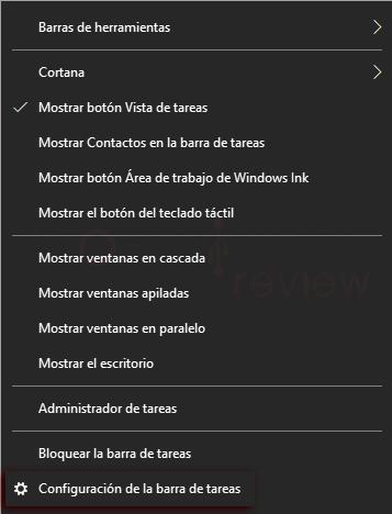 barra de tareas Windows 10 p4