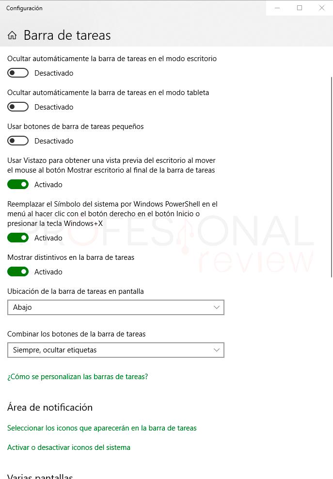 barra de tareas Windows 10 p5