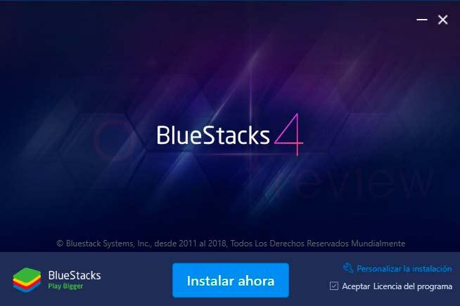 Bluestacks Windows 10 paso01