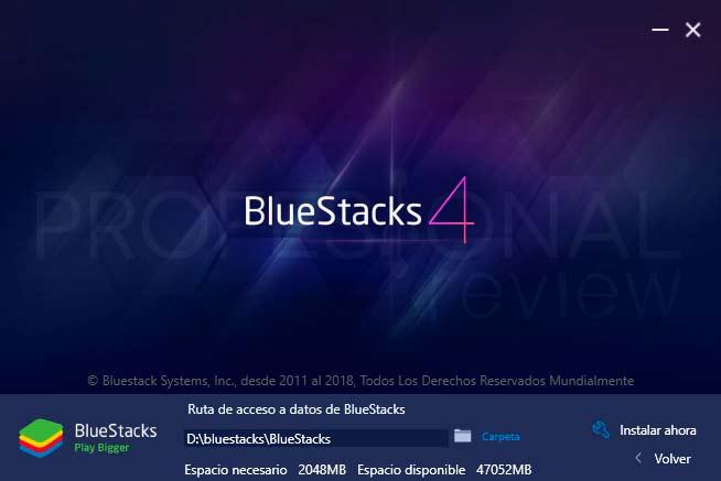 Bluestacks Windows 10 paso02