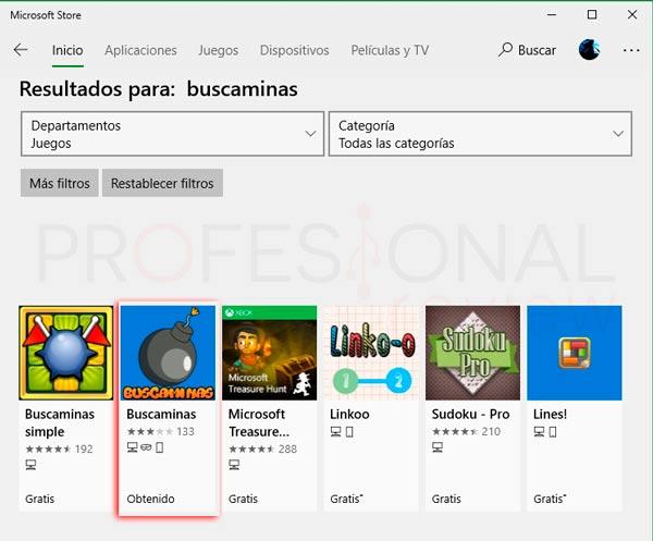Buscaminas en Windows 10 tuto02