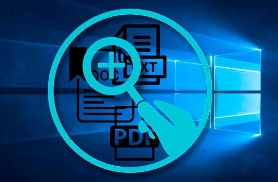 Buscar archivos en Windows 10