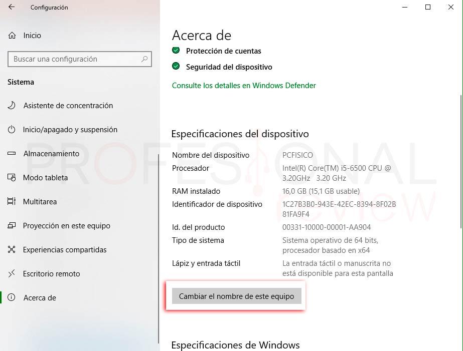 Cambiar nombre de equipo Windows 10 p07