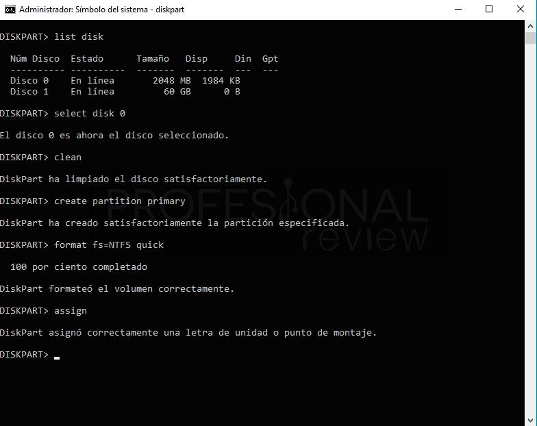 CHKDSK no está disponible para unidades RAW paso07