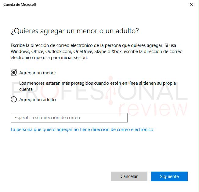 Control parental Windows 10 paso04
