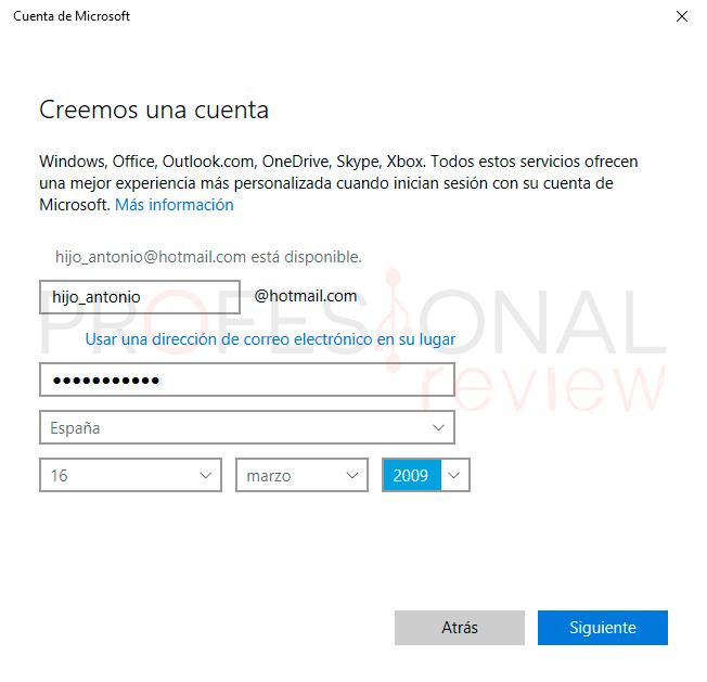 Control parental Windows 10 paso05