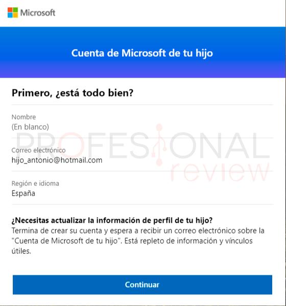 Control parental Windows 10 paso11
