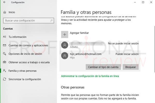 Control parental Windows 10 paso13