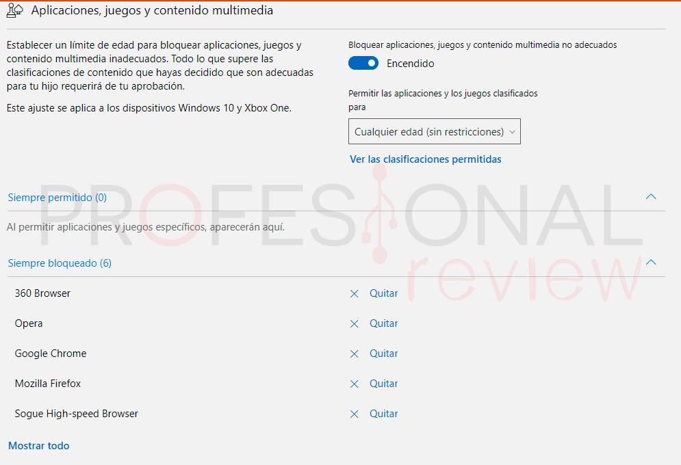 Control parental Windows 10 paso15