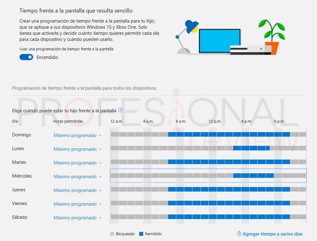 Control parental Windows 10 paso17