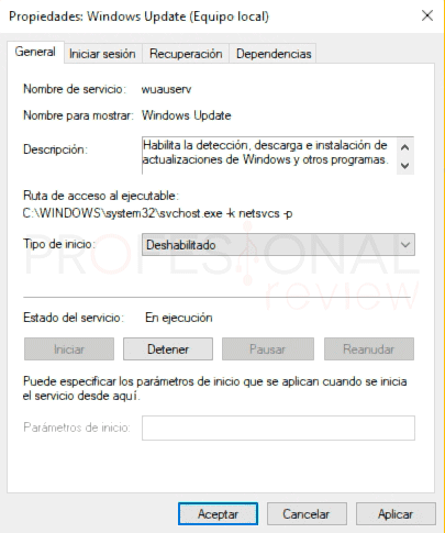 Desactivar actualizaciones Windows 10 p09