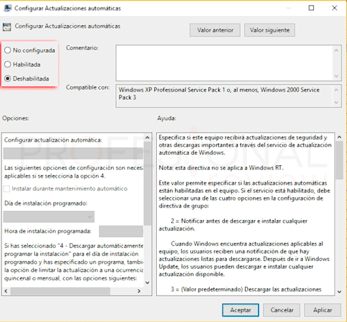 Desactivar actualizaciones Windows 10 p13