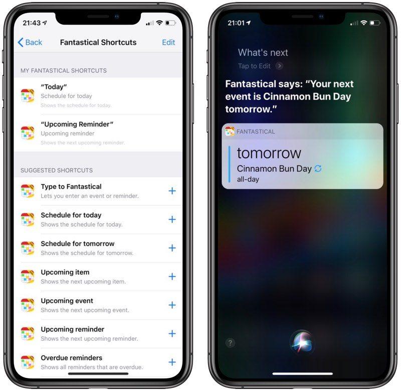Ya puedes usar Fantastical 2 con los Atajos de Siri